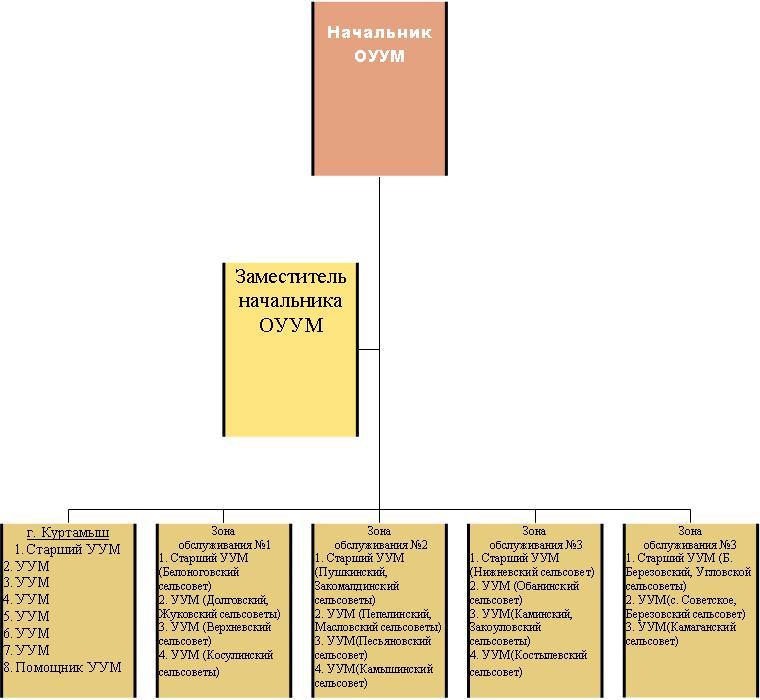 Структура отдела участковых